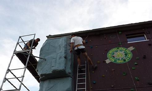 Artikelbild zu Artikel Kletterturm erwacht wieder zum Leben